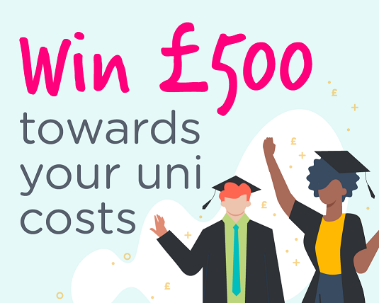 Win £500 cash towards your Uni costs